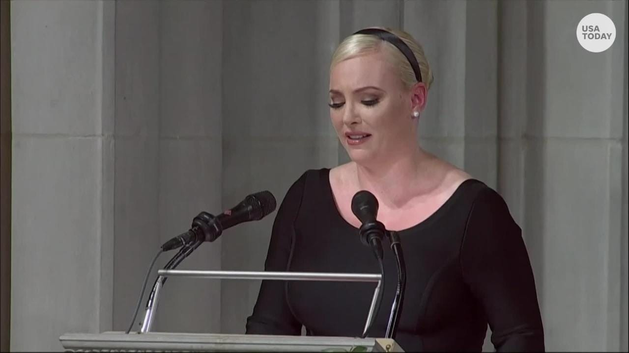 a2da26e31 Meghan McCain shows her father's spirit in beautiful, poignant and scathing  tribute to him