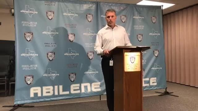 Abilene Police Chief Stan Standridge news conference on Saturday, Sept. 1, 2018 on shooting death of Aaron Howard by two neighbors following dispute over trash in the alley.