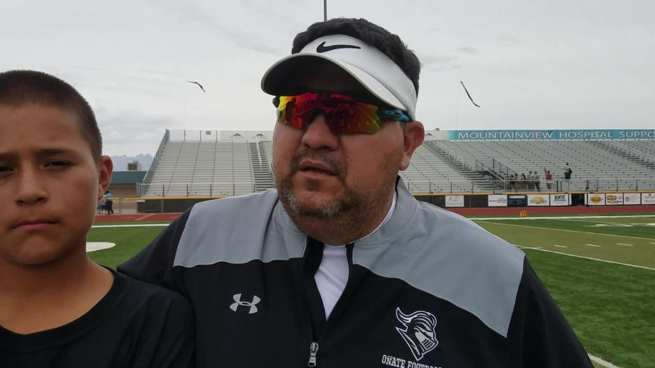 Oñate coach Scott Veliz talks about the Knights' loss to Cibola