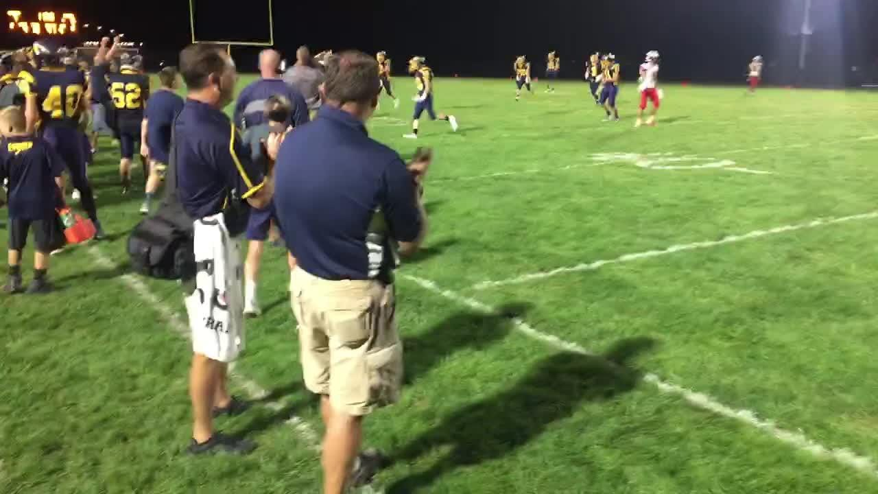 Elco stops Lebanon on 4th down late in the fourth quarter to preserve a 7-6 victory.