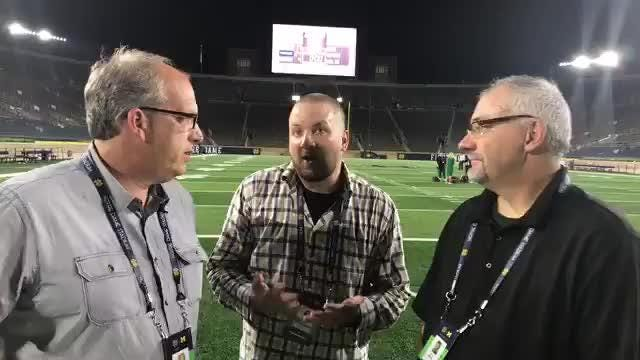 Free Press sports writer Nick Baumgardner and columnists Jeff Seidel and Shawn Windsor dissect Michigan's 24-17 loss at Notre Dame on Sept. 1, 2018.