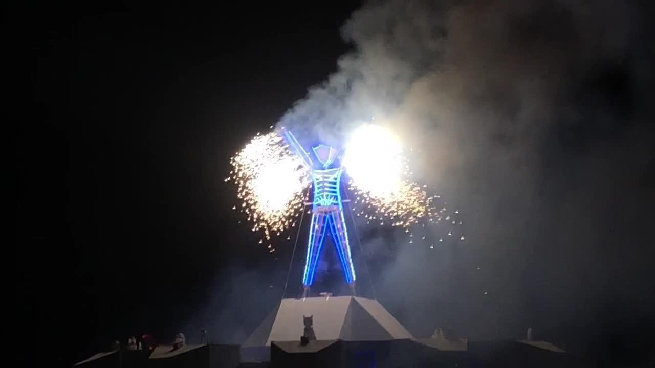 Burning Man ritual ends final night of weeklong festival in the Nevada desert