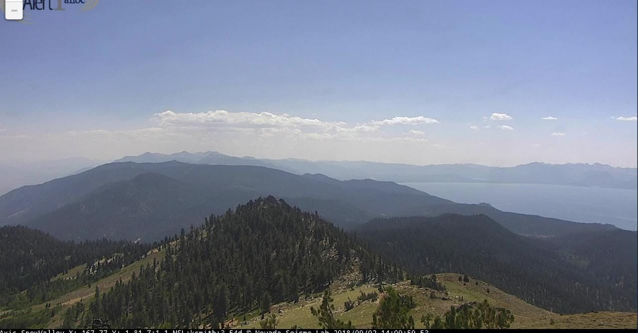 Timelapse video was taken by the Alert Tahoe system of fire cameras in Northern Nevada.