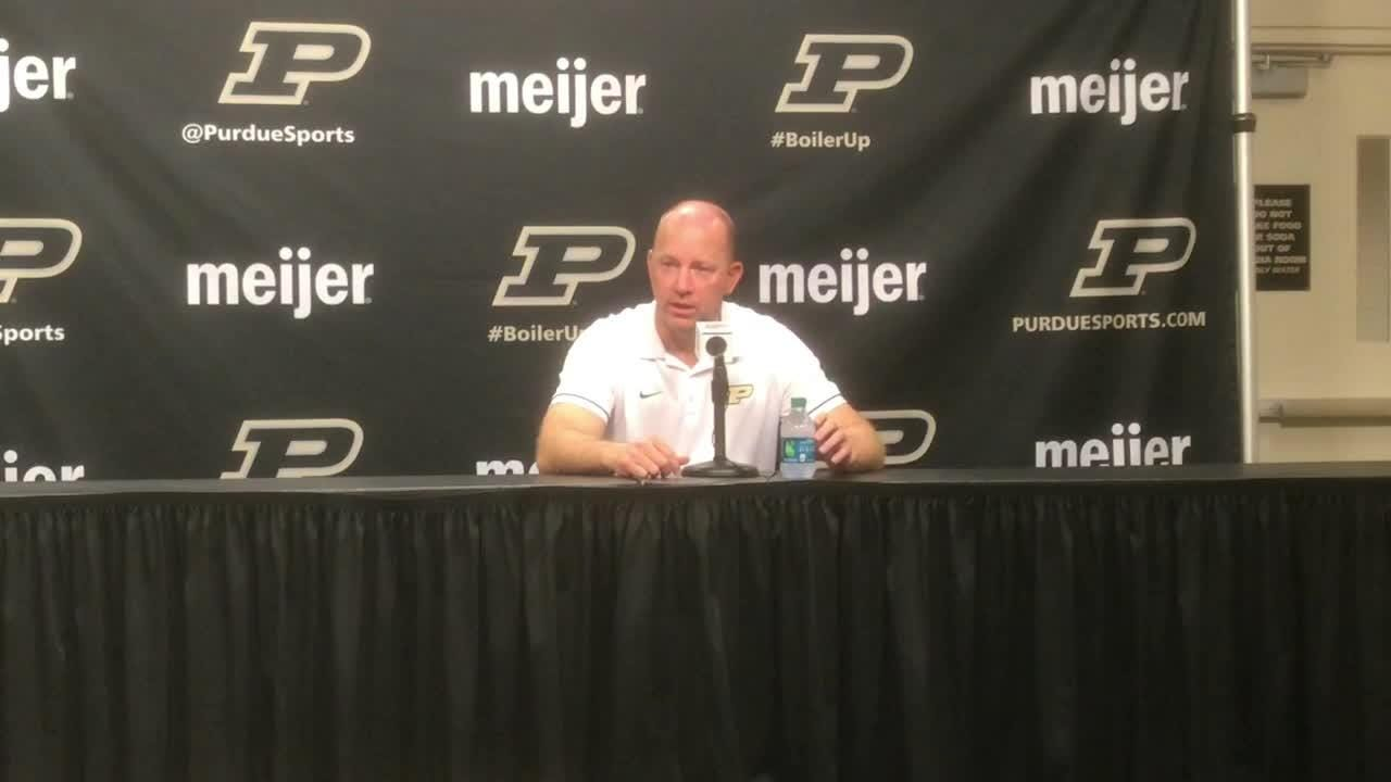 Purdue's head coach recaps the loss to Northwestern and looks ahead to Eastern Michigan