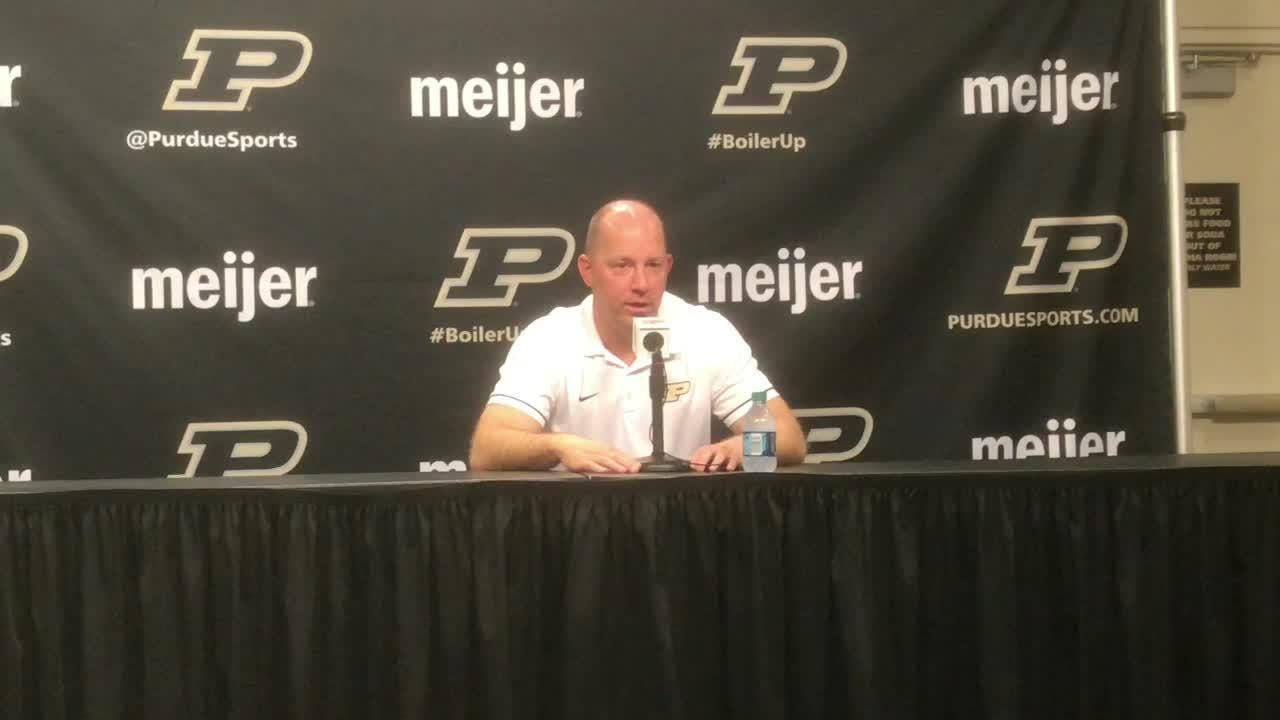 Purdue's head coach didn't like the effort from his team in the loss to Northwestern
