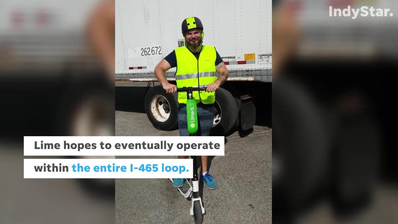 Lime scooters return to Indianapolis