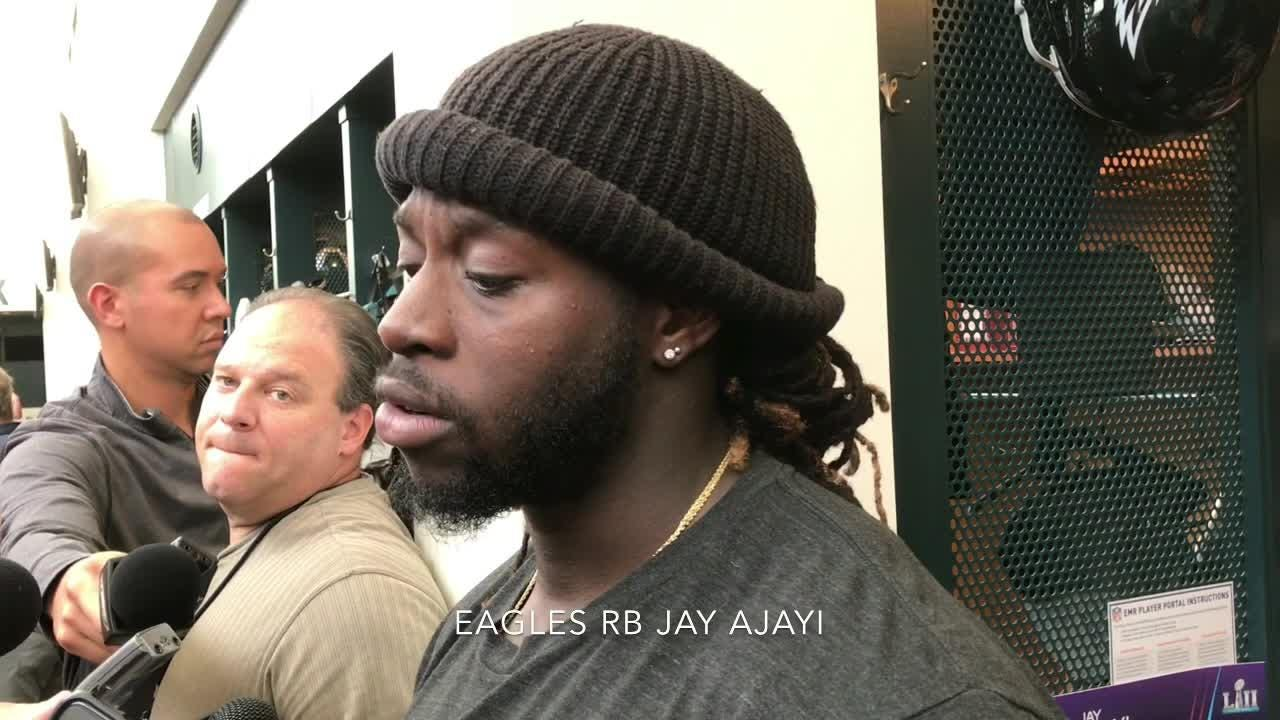 Jay Ajayi said he's looking forward to a new season, and Lane Johnson talks about the Eagles' QB situation.