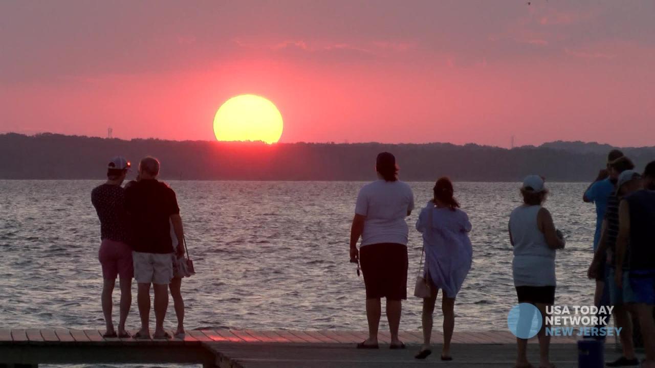 Final summer sunset viewed from Lavallette