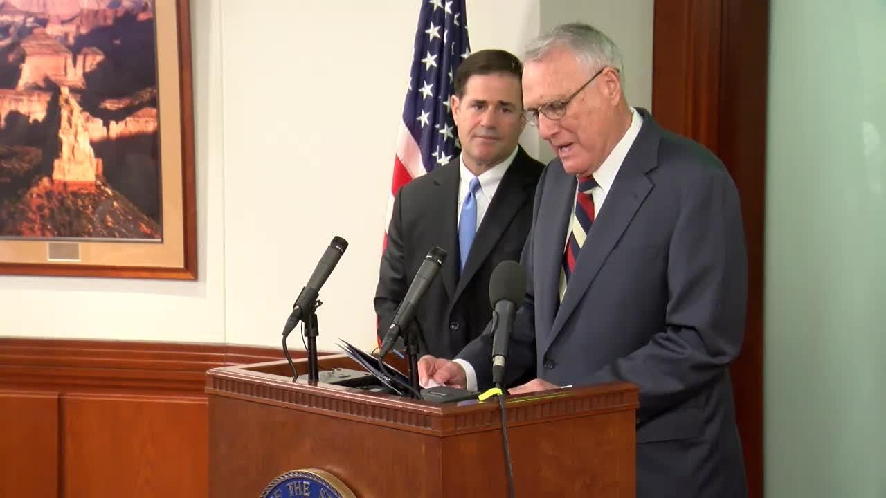 Arizona Gov. Doug Ducey announces that former U.S. Sen. Jon Kyl will replace John McCain in the U.S. Senate.