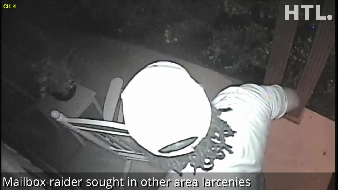 Police are trying to identify the man seen on this video as he fishes mail from a mailbox. Anyone who knows who he is is asked to call 734-467-7914.