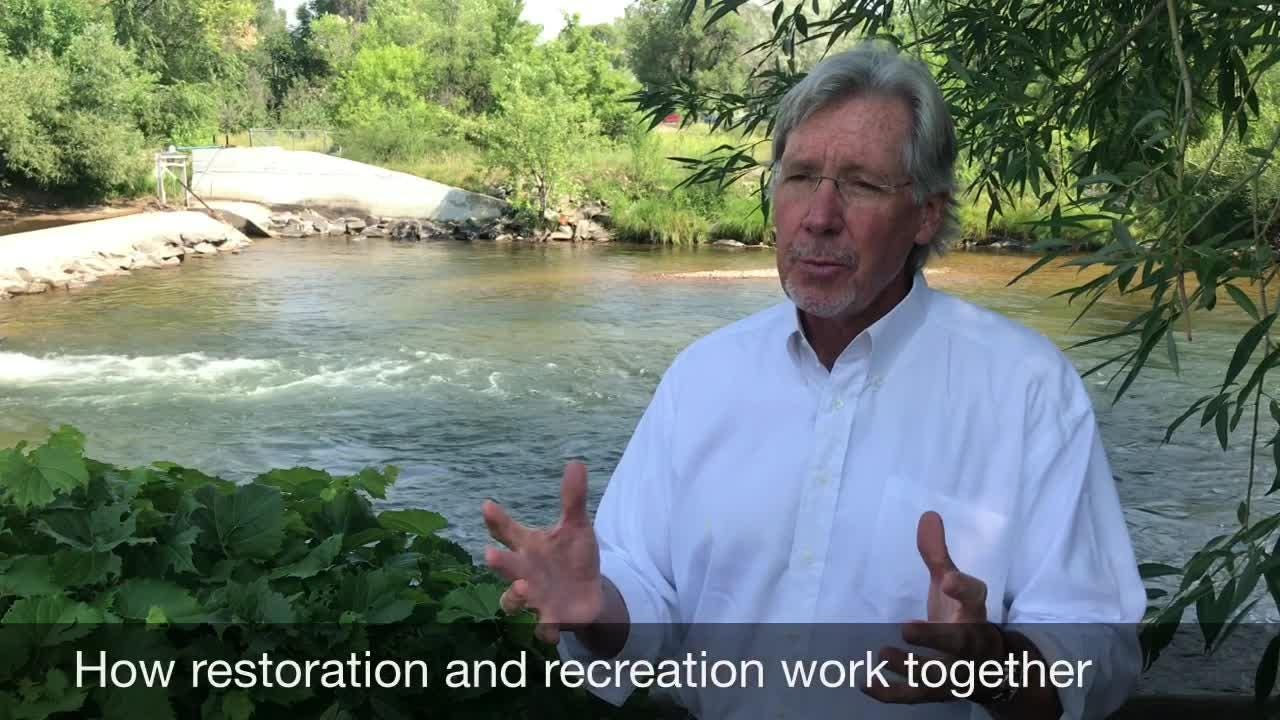 Jack Graham and his wife, Ginger, donated $1 million to the city of Fort Collins for a whitewater park. Hear his vision for it and the district.