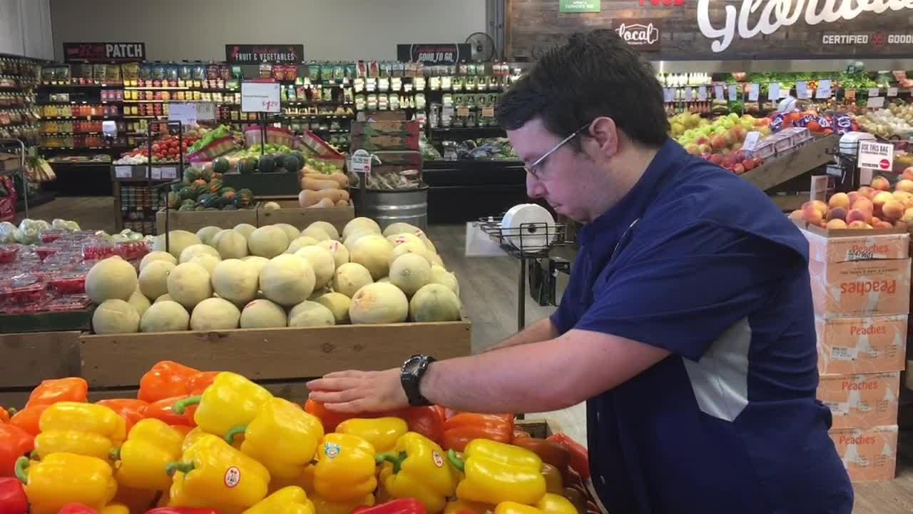 Keith Bourkney of employU, takes about their efforts to help the disabled get jobs, including at Lucky's Market in West Melbourne.