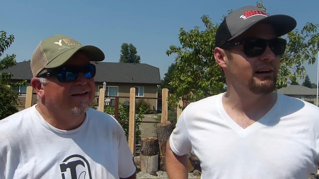 Friends, family and those who did not know him built a fence Tuesday to help honor fallen Redding firefighter Jeremy Stoke.