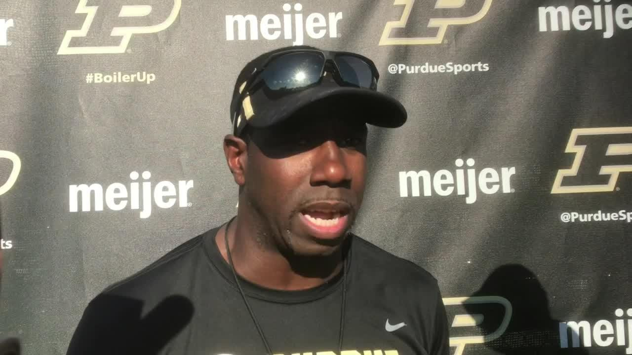 Purdue's receivers coach on his group's performance against Northwestern