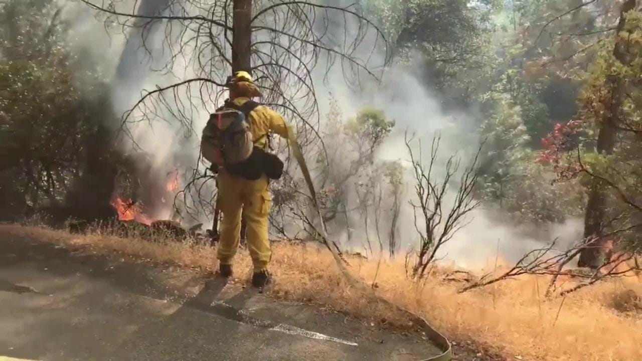 The Ranchera Firethat started Tuesday afternoon burns in Shasta Lake. Evacuations are in place for the surrounding area.