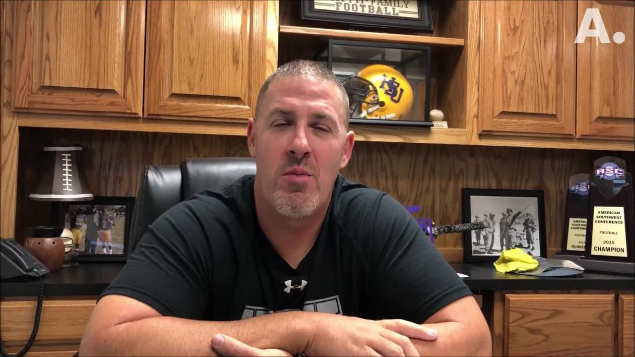 The Hardin-Simmons football team opens the 2018 season Saturday at Trinity. HSU coach Jesse Burleson discusses the opponent and what he wants to see.