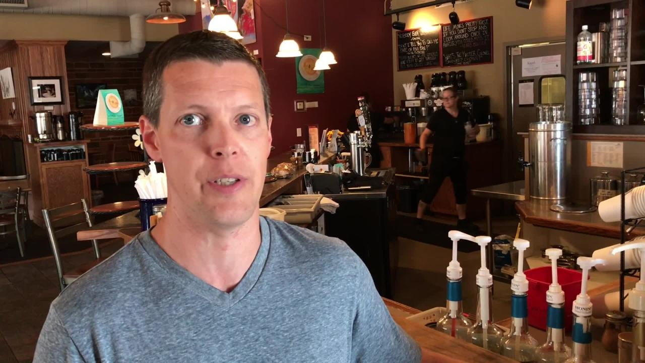 Kaladi's Bistro co-owner Mark Gillespie discusses the effect of Minnesota Avenue road construction on his business.