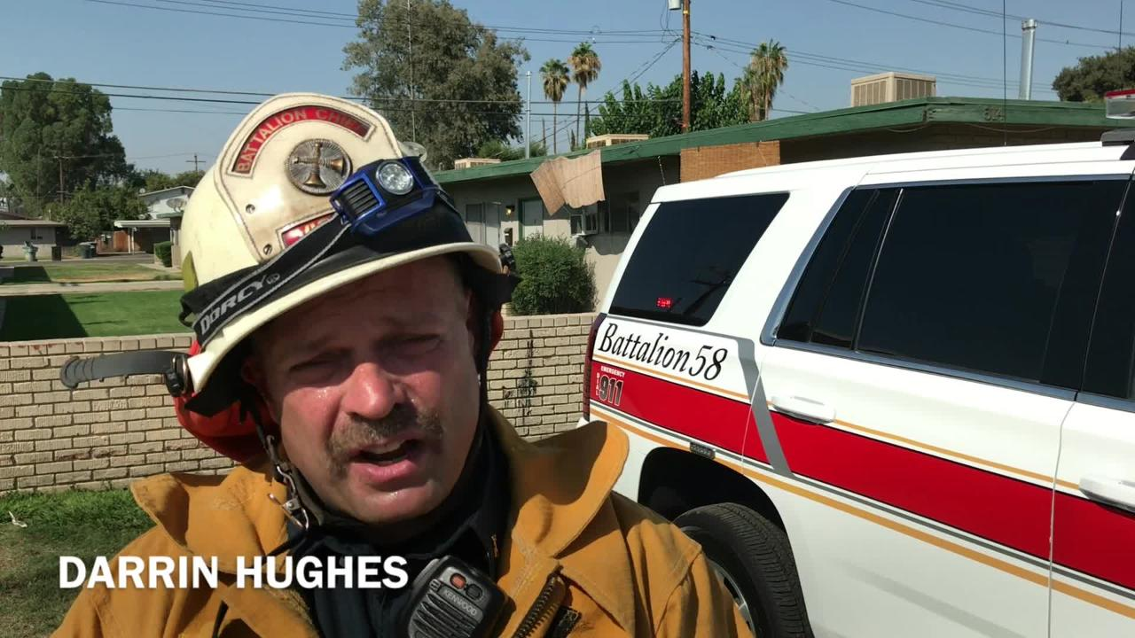Visalia firefigthers contained flames to unoccupied apartment