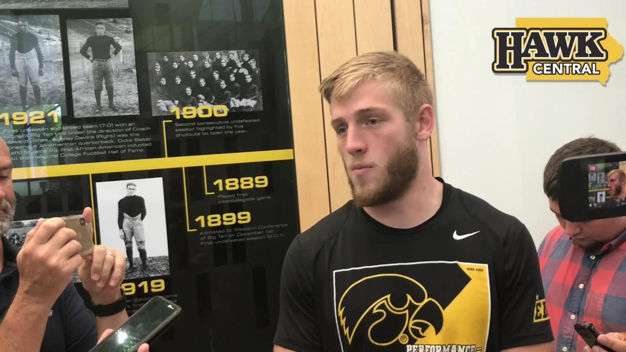 Iowa safety Jake Gervase talks about the difficulties in defending Cyclone quarterback Kyle Kempt and wide receiver Hakeem Butler