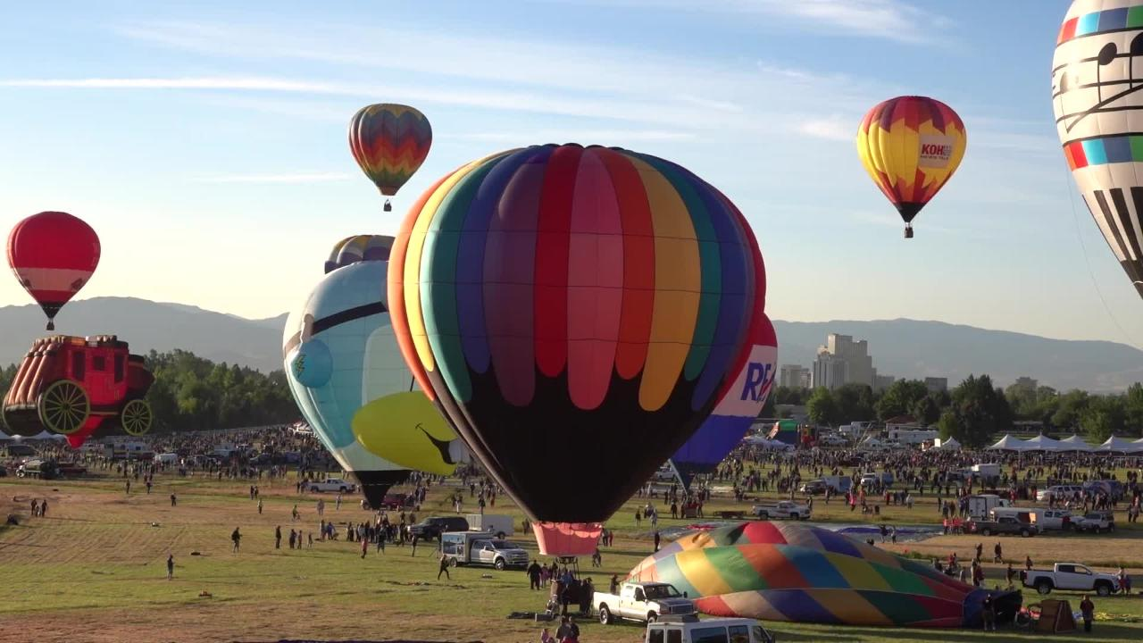 The Great Reno Balloon Race kicked off on Friday. Watch these giant balloons ascend over Reno in this one-minute timelapse.