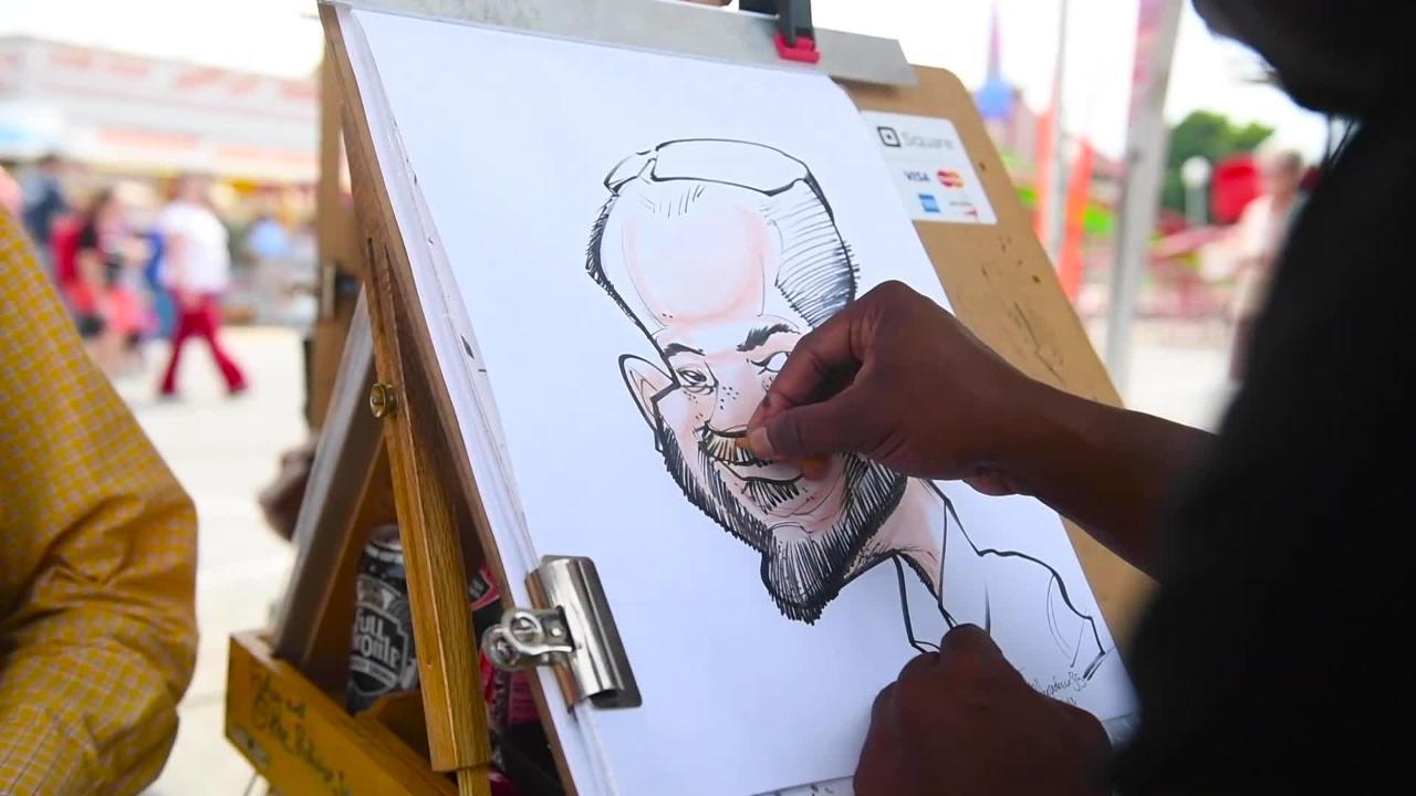 Watch YDR reporter, Geoff Morrow, get drawn by caricature artist, Jarrett Greene, at the 2018 York Fair.