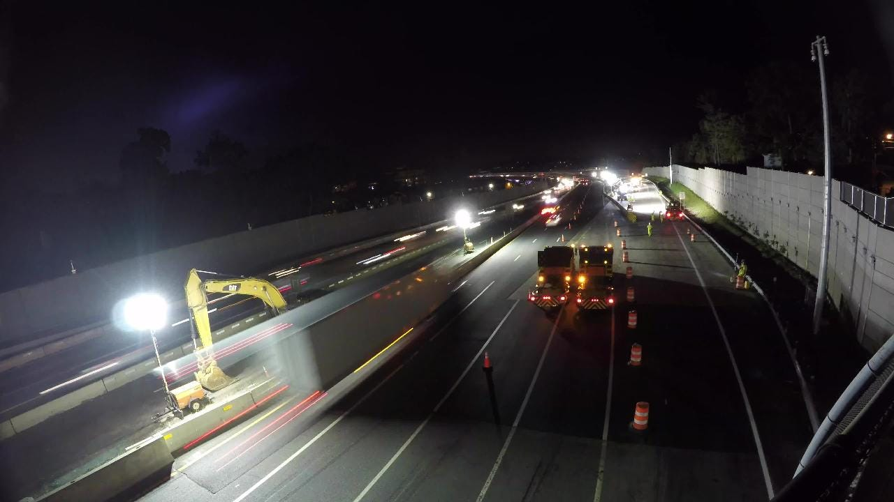 Video: Time-lapse of the preparation of Cuomo Bridge lane shift