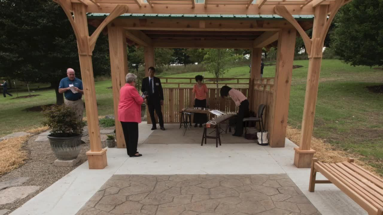 Japanese consuls and governors joined Governor Rick Snyder, and Novi Mayor Bob Gatt. Even L. Brooks Patterson showed up to dedicate the Sakura Garden.