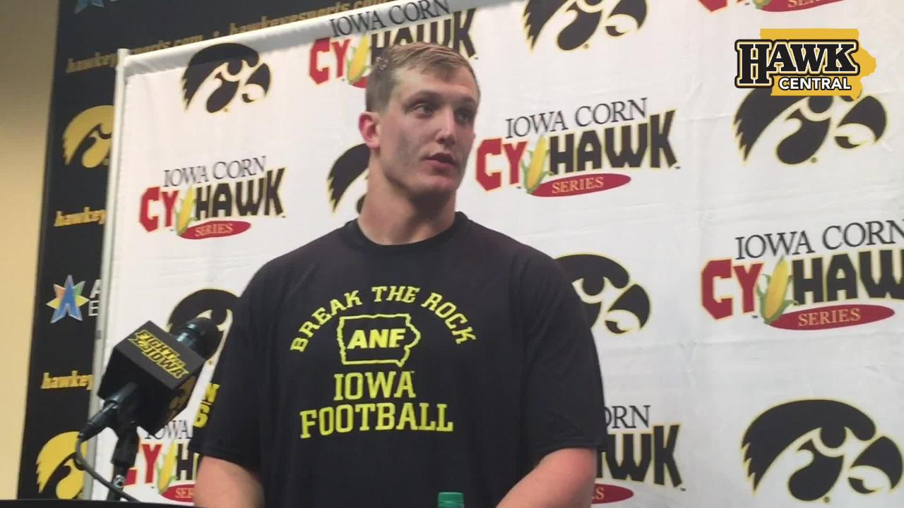 Iowa defensive tackle Matt Nelson explains how the Hawkeyes held a good Iowa State offense to three points.
