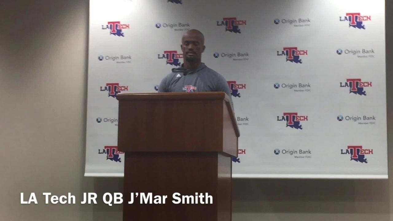 Louisiana Tech redshirt junior quarterback J'Mar Smith discusses his career performance in 54-17 win v. Southern Saturday.