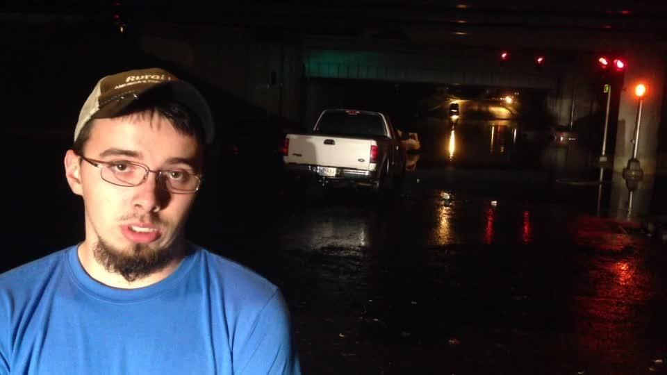 A driver talks about getting caught in the deep water.