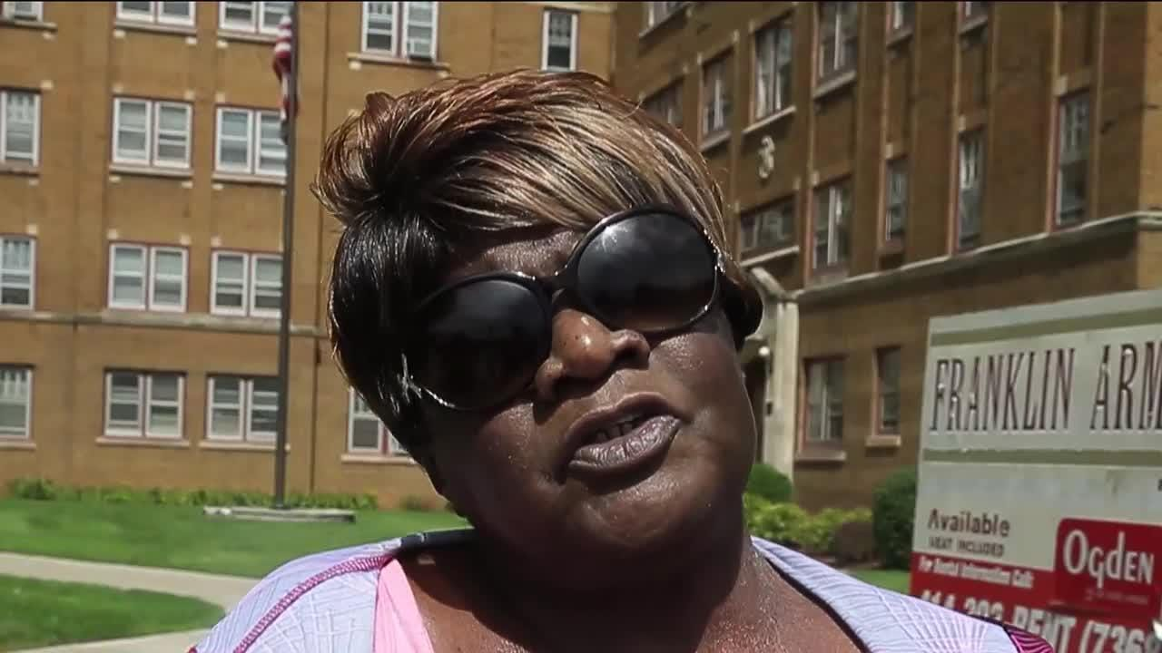 Freda Rogers was evicted from her Franklin Arms Apartment over late rent. Despite showing up with a U-Haul, she was not allowed to remove her belongings.