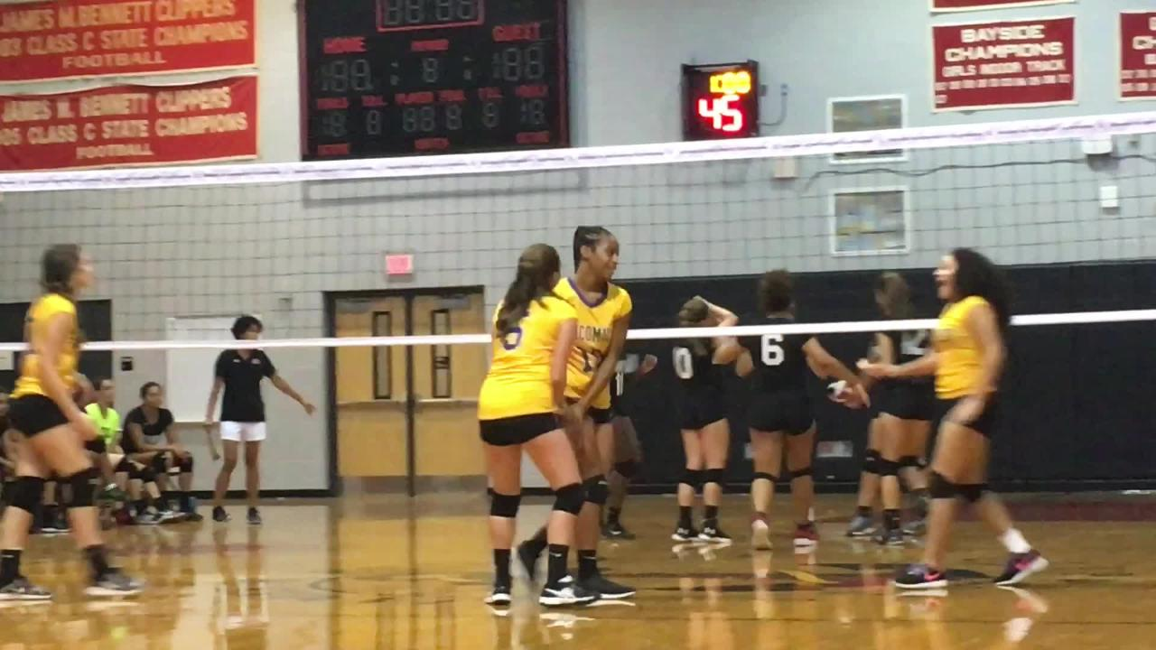 The James M. Bennett volleyball team defeated Wi-Hi in its first game of the season.