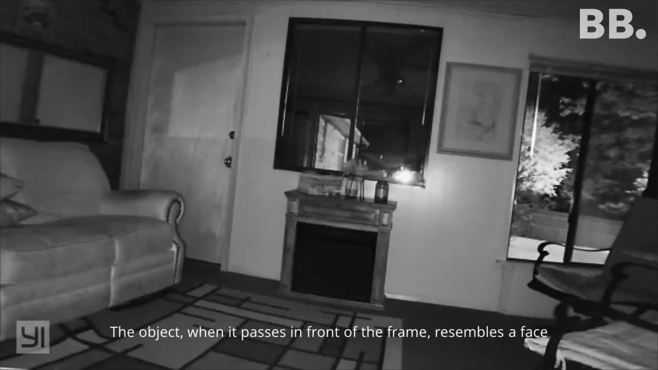 A mysterious object appeared on security cam video at a local residence. A resident provided a copy of the event and is baffled to explain what it is.