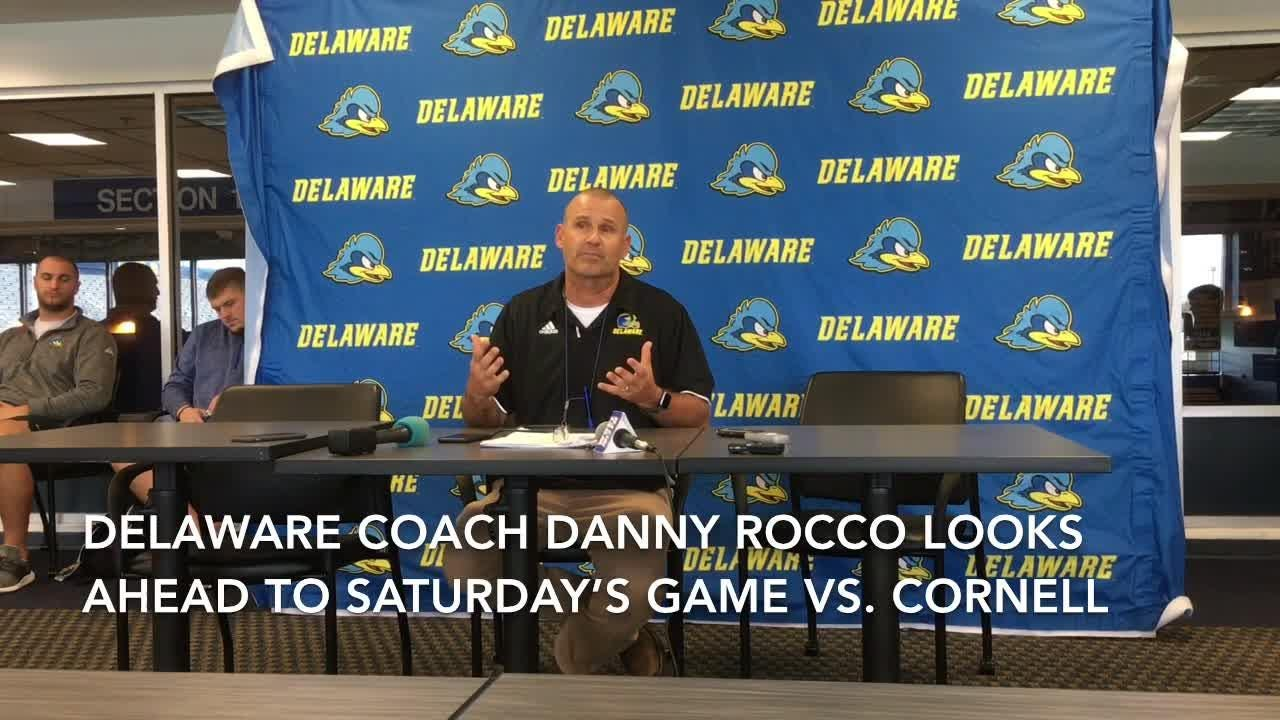 Delaware football coach Danny Rocco looks ahead to Saturday's visit from Cornell