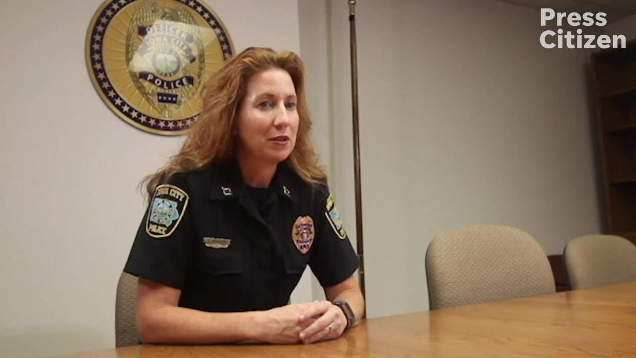 Iowa City's first female Police Captain Denise Brotherton says she feels support from the community.