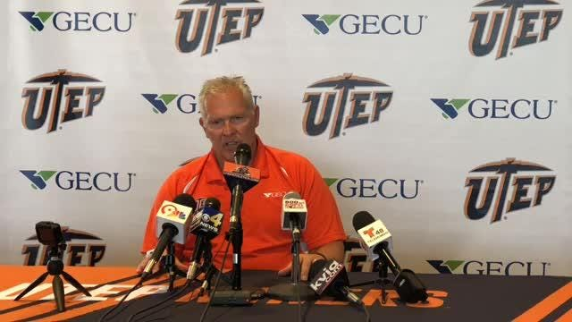 UTEP football head coach Dana Dimel talks about the Miners coming game against the Tennessee Volunteers in Knoxville.