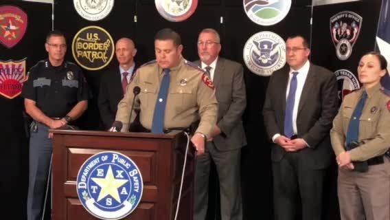 Press conference on prescription fraud investigation