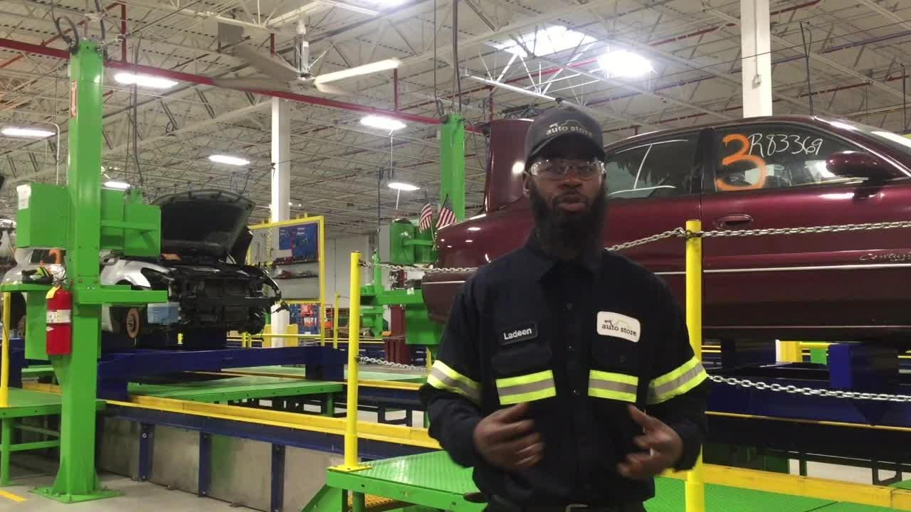 A Camden resident talks about his job at a Camden plant that repurposes used auto parts for sale at large retailers/