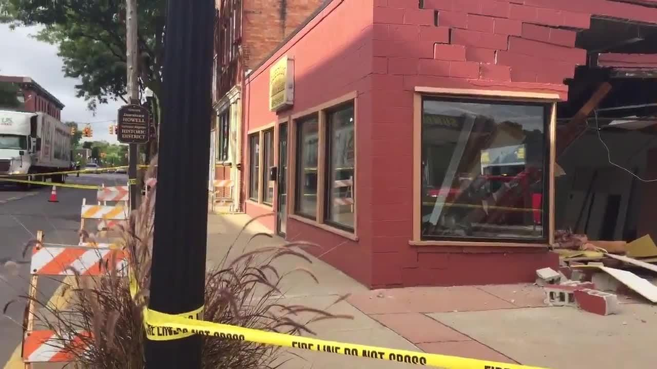 A pickup is thought to have crashed into the vacant Self Start Driving Academy in Howell