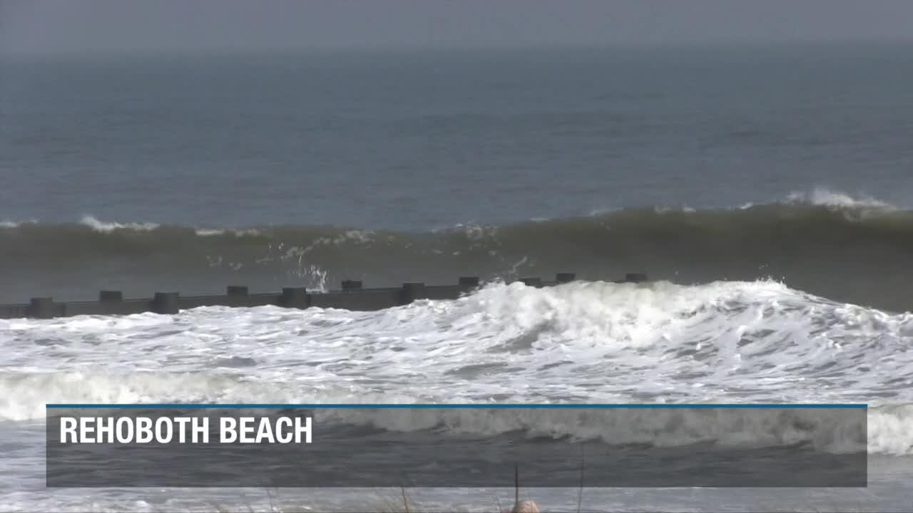 Raw Video: Big surf along the Delaware Beaches due to approaching Hurricane Florence