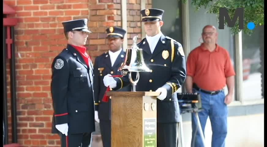 Police, fire and Montgomery citizens gathered to remember the victims of the September 11 attacks.