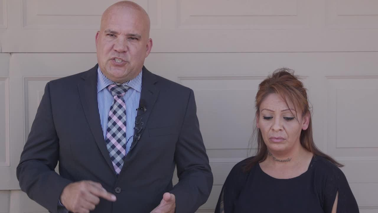 Attorney Anthony Ramirez and his client, Renee Armenta, who was dragged out of her car by a Goodyear police officer, talk about what happened.