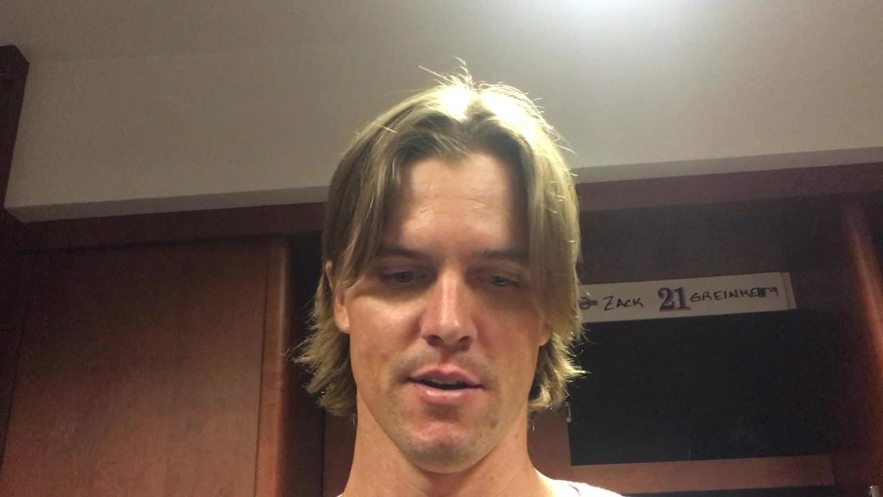 Right-hander Zack Greinke gave up three runs in 6 2/3 innings as the Diamondbacks evened their series with the Rockies with a 6-3 win on Tuesday.