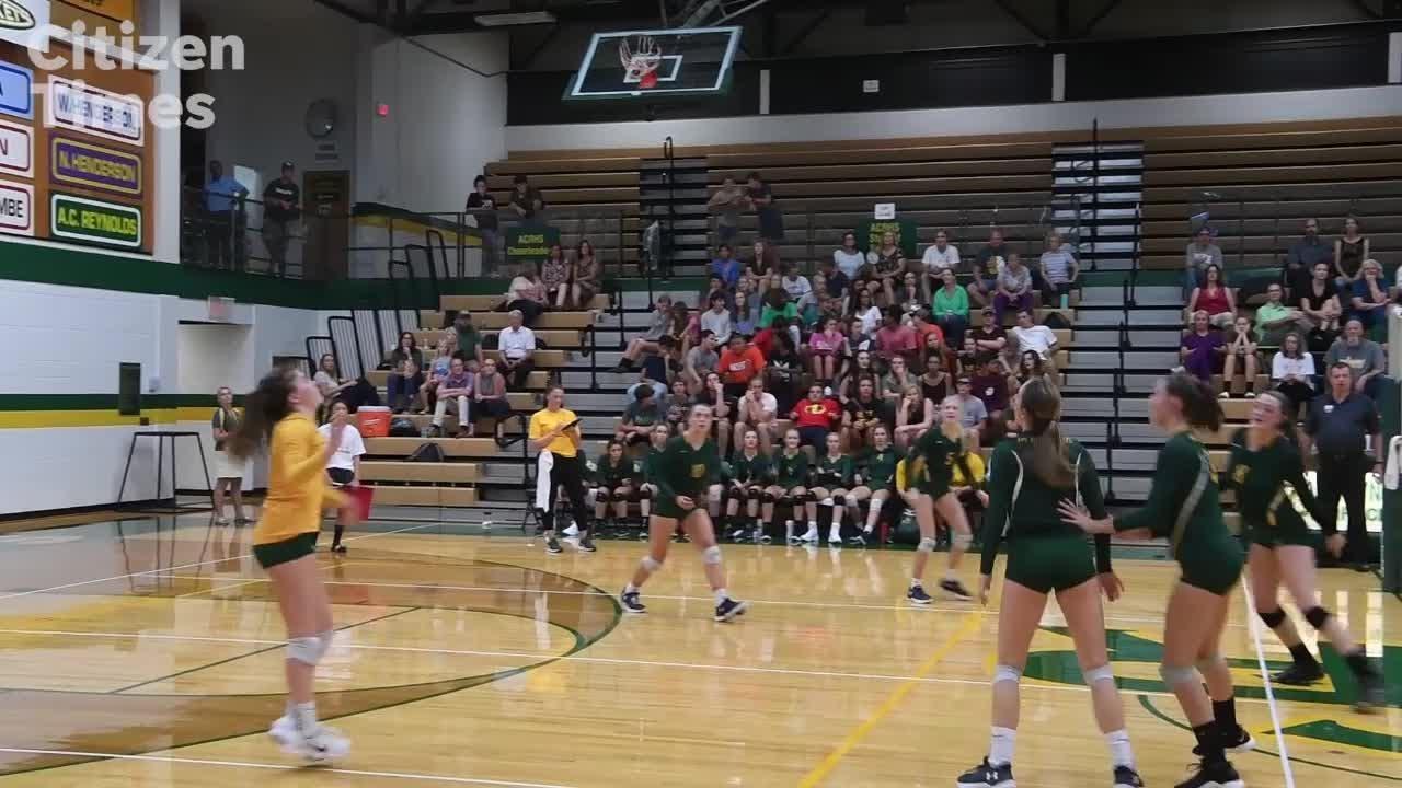Roberson vs Reynolds volleyball