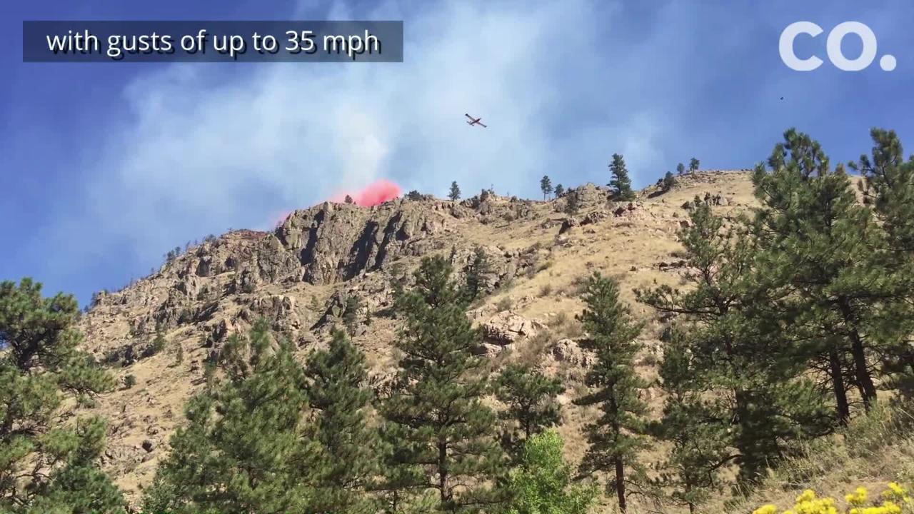 A fire is burning in Northern Colorado in Poudre Canyon