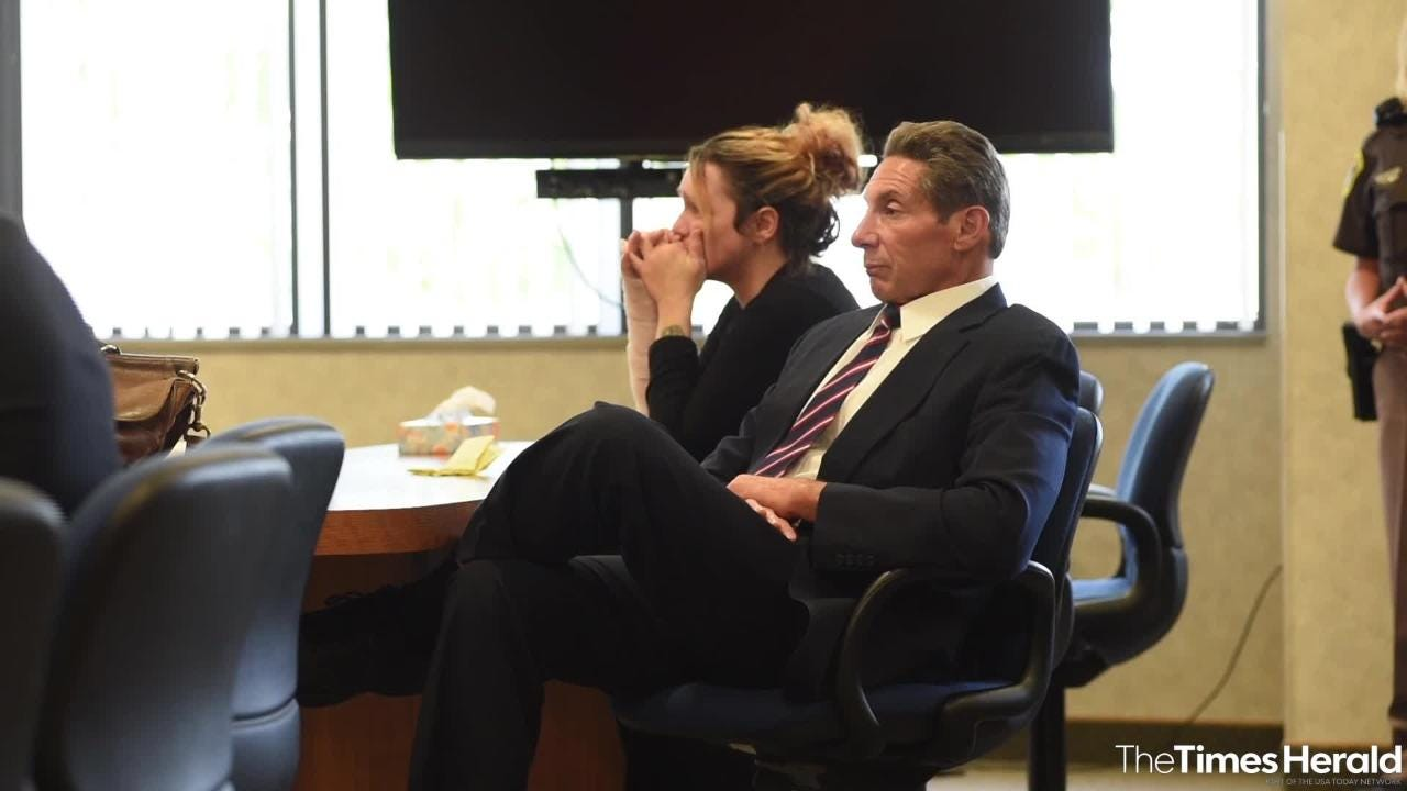 Theresa Gafken reacts to being found guilty of second-degree murder as the verdict is read Wednesday, Sept. 12, 2018, in the fatal car crash on April 11 that killed Kristine Donahue.