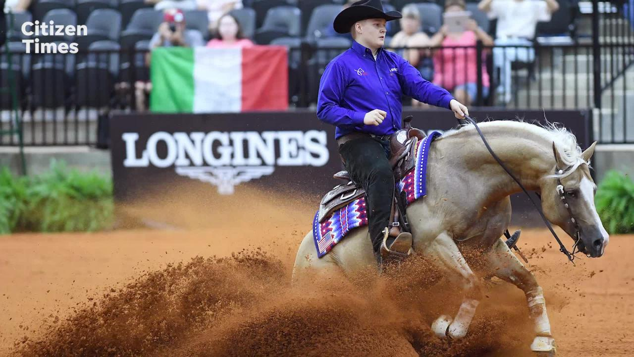 The youngest United State competitor in the sport of reining, Cade Mccutcheon, 18, talks about his performance at the FEI World Equestrian Games.