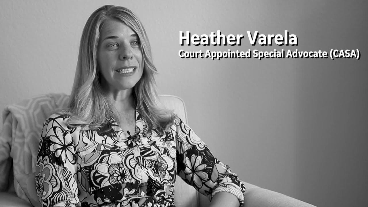 Heather Varela is a court-appointed special advocate for children in the Arizona Department of Child Safety system.