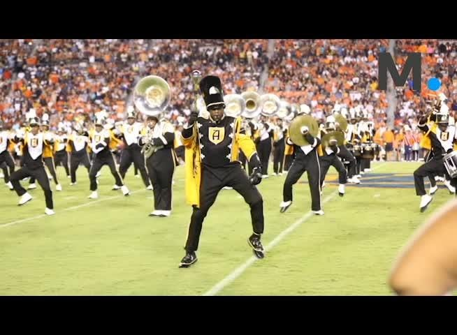 Alabama State University's Mighty Marching Hornets brought a new style to Jordan-Hare Stadium