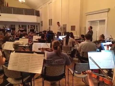 The Nashville Philharmonic is preparing to perform a Tracy Silverman piece in the Fall Concert Series; the rehearsals were captured on Google Bulletin